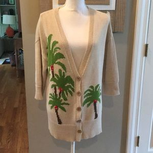 J. Jill Palm Tree Cardigan